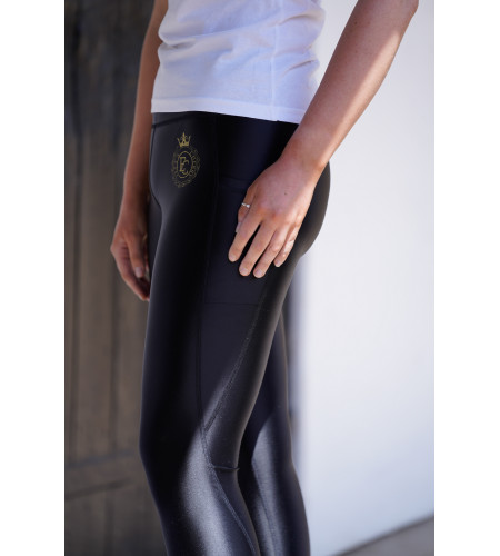 Glossy Leggings with 2 Pockets