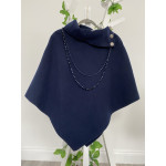 Abby Buttons Cape Navy