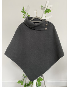 Abby Buttons Cape Grey