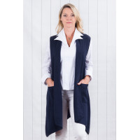 Skylar Navy Sleeveless Cardigan