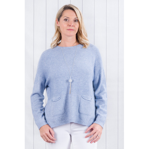 Amelia Two Pockets Front Jumper Blue Jeans
