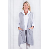 Skylar Sleeveless Cardigan Grey