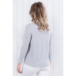 Chelsea V Neck Jumper Grey