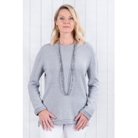 Lucy Roll Hem Jumper Grey